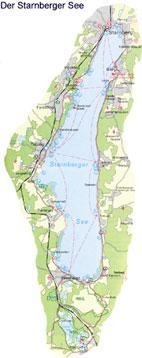 Starnberger See - Karte
